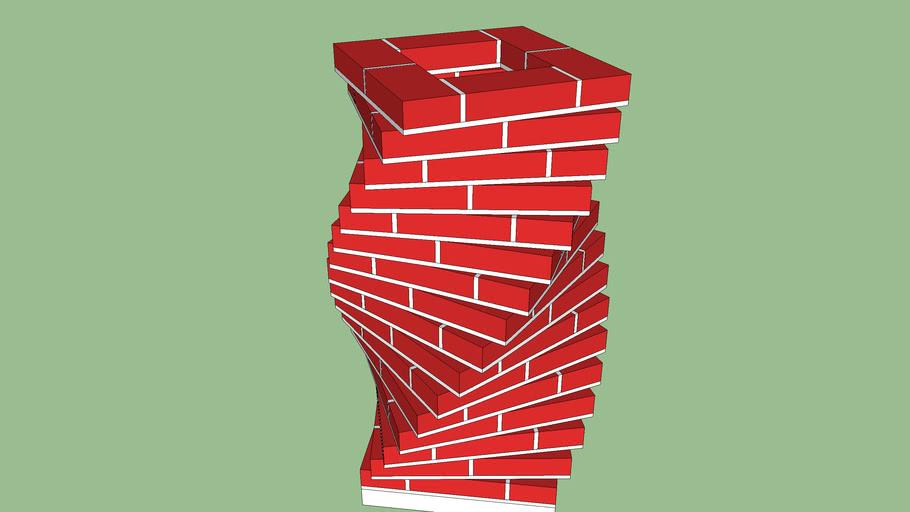 Brique élicoidale