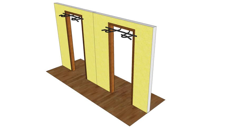 Original and modified doorway chin up bars