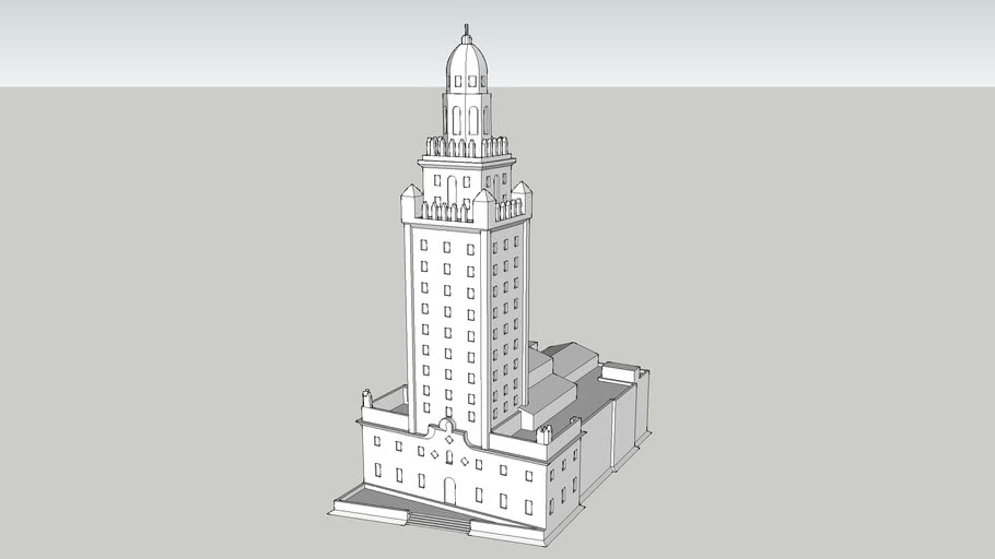 """Miami Freedom Tower (~11"""" tall - 3D printable)"""