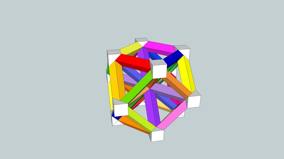 Estudio sobre una construcción poliédrica de cartulina