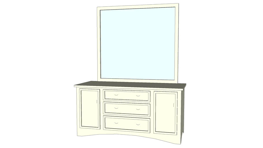 Dresser b 24in x 60in with mirror