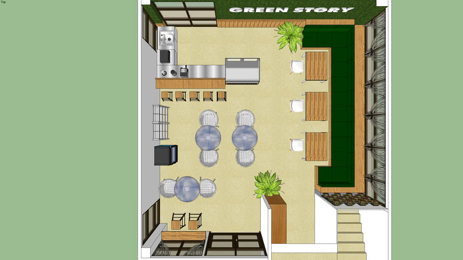 Coffee Shop Librarykukps 3d Warehouse
