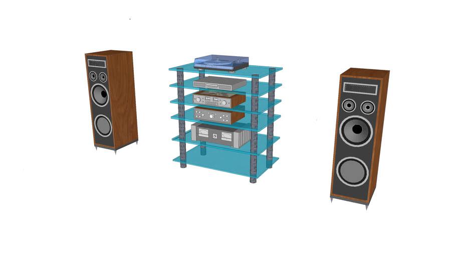 HI-FI-stereo-system-vintage