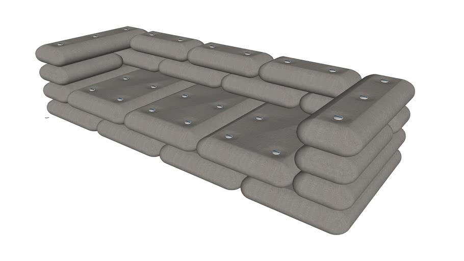 Brick 3 Seater Sofa Jot Warehouse