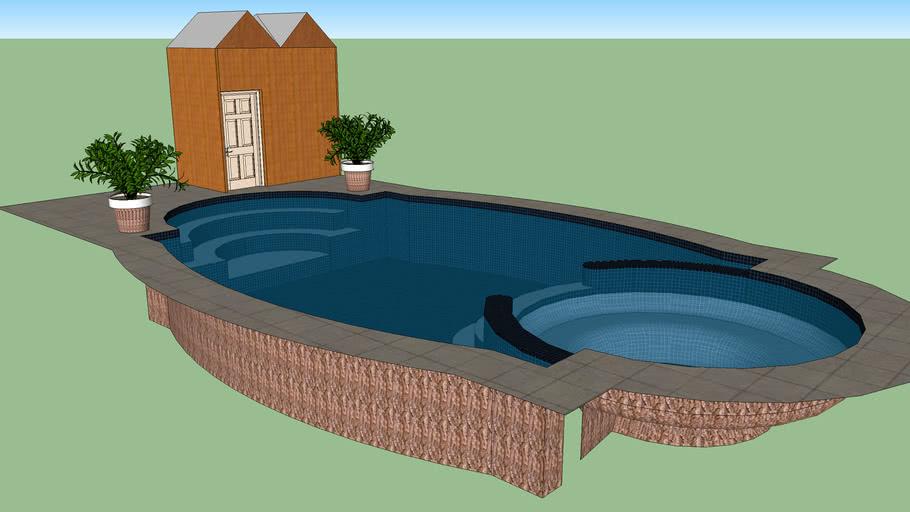 piscina con camarin