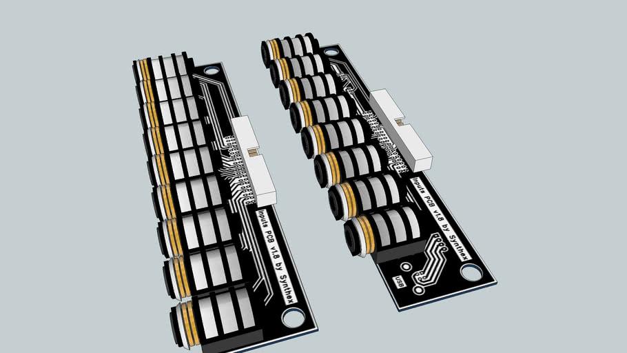 Megadrum Jacks PCB with NYS 215 TRS connectors