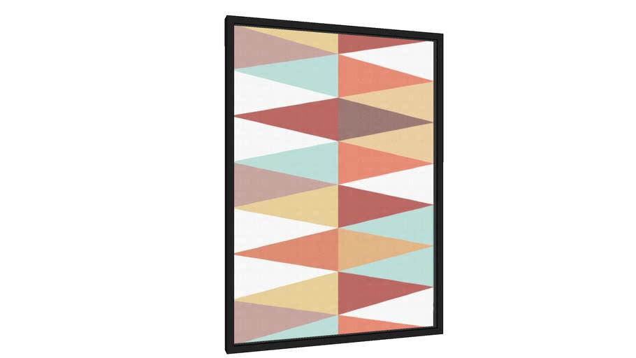 Quadro Geométrico e colorido III - Galeria9, por Vitor Costa