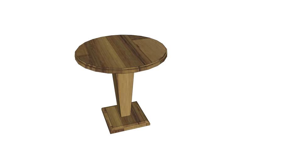 mesa lateral tampo redondo