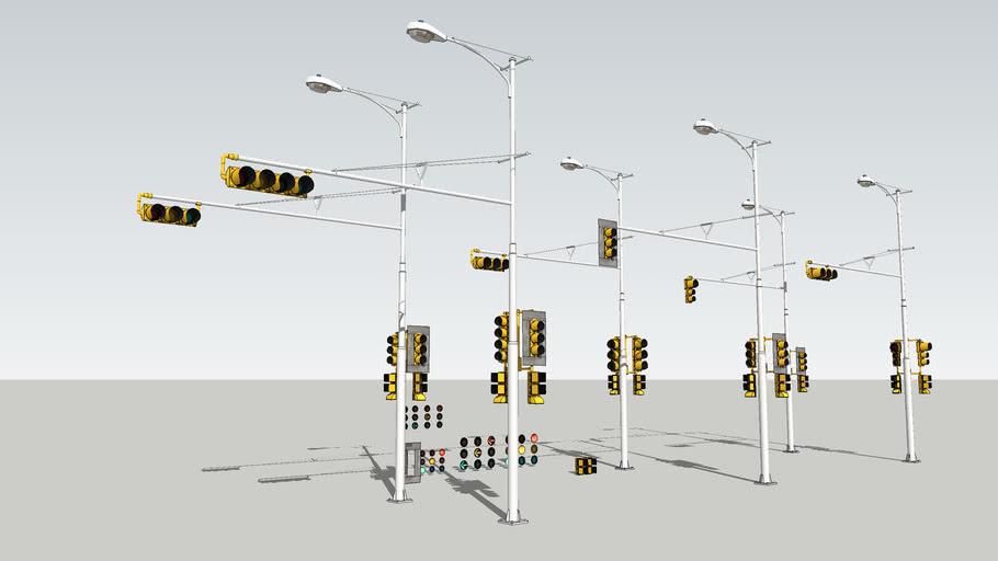 Texas Vintage traffic signal set concept