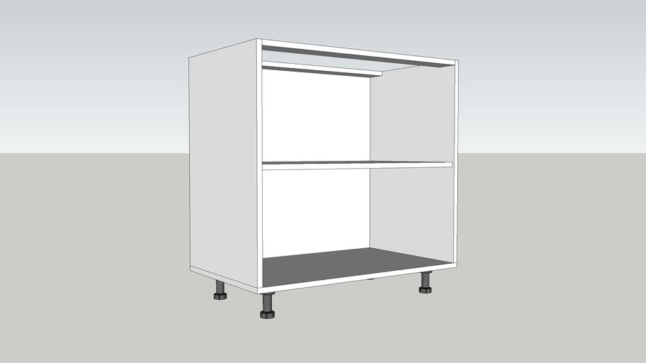 CORP INFERIOR 1 POLITA 850 mm / LOWER CABINET WITH A POLE