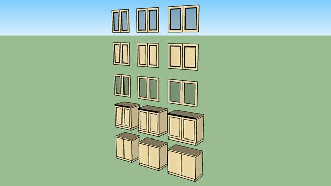 "Cabinets Plus - 29""H Base_w doors_198_25-36"