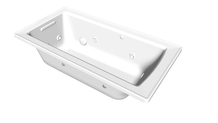 """K-1947-H Archer(R) 60"""" x 30"""" drop-in whirlpool with heat and Comfort Depth(R) design"""