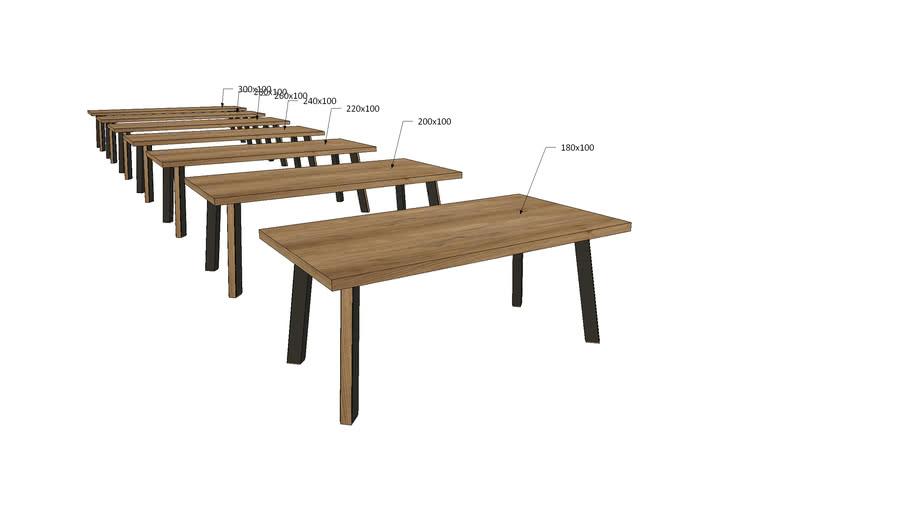 WA1Ix, Wagner Dining Table I Legs