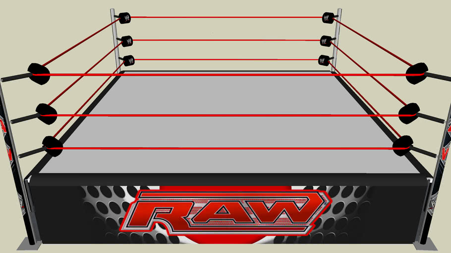 WWE RAW HD - FULL SKIRTS,POSTS,ROPES,