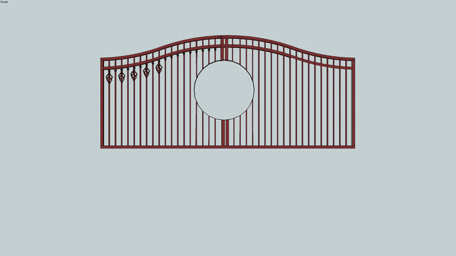 Partially  complete drive gate with double arch.