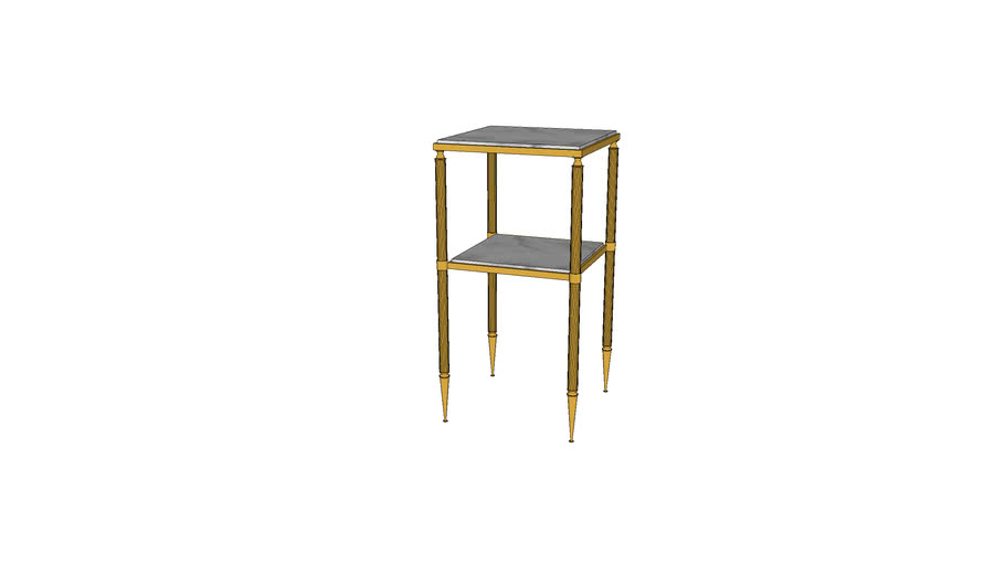 Neoclassical Brass Accent Table