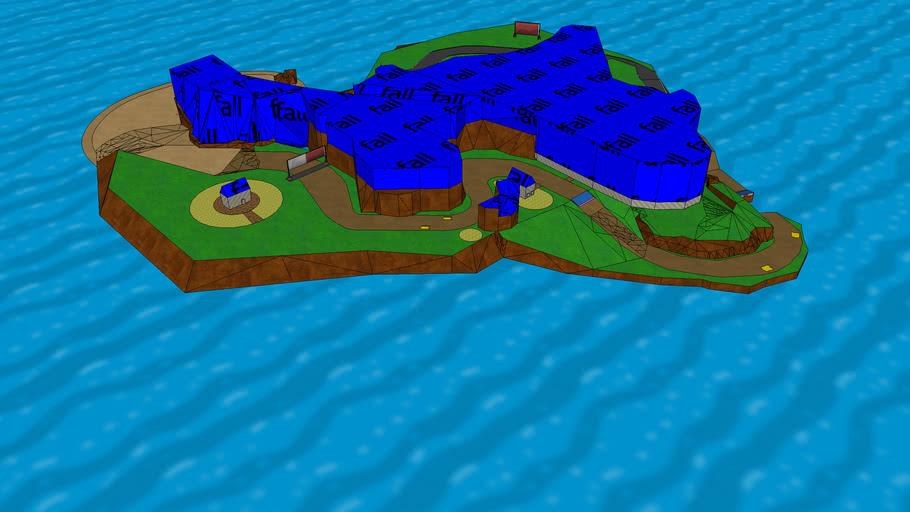 Collision model - Rooster Island v1.0 - Custom Level for Mario Kart Wii