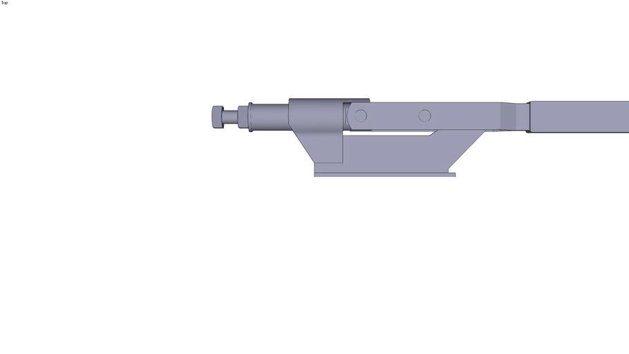 Horizontal push toggle clamp - M10