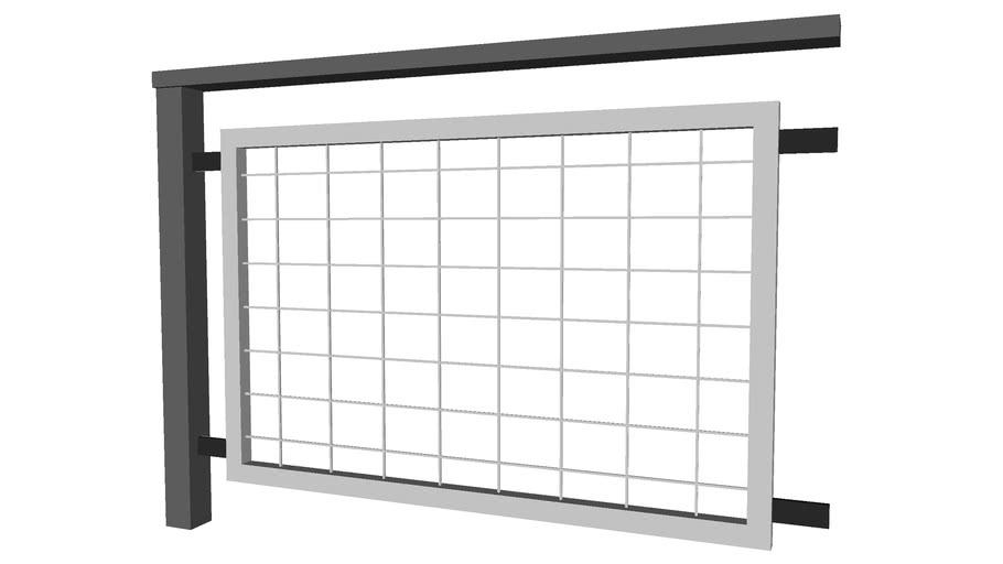 Vertical Steel Railing - Detailed