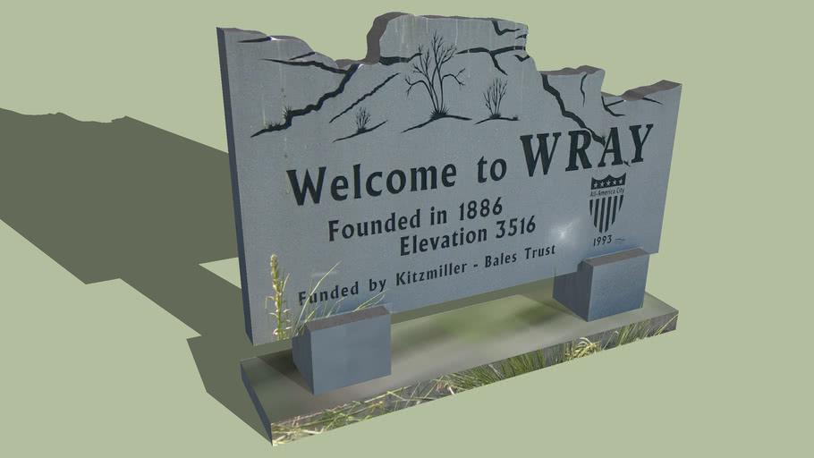 Welcome Sign Wray, Colorado