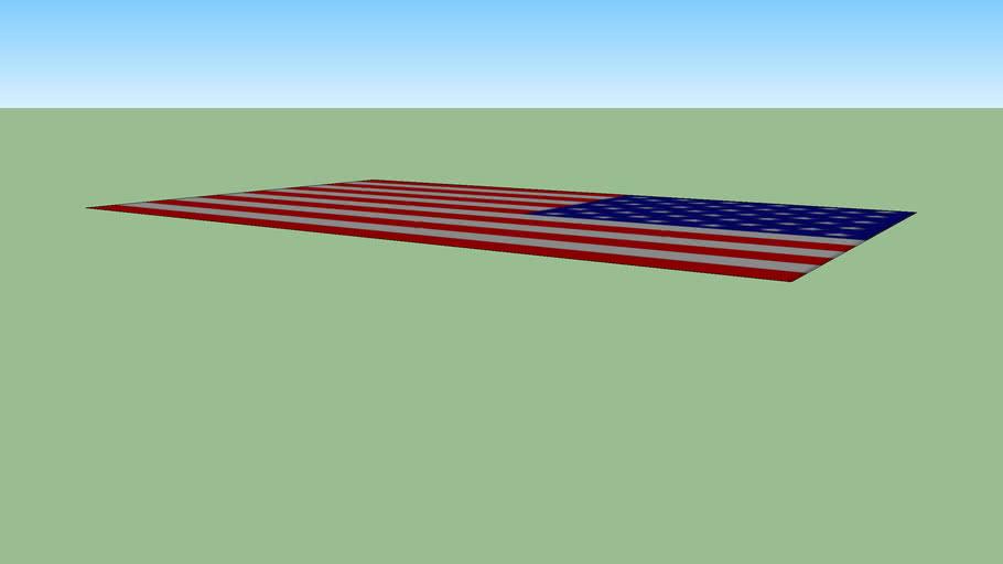Bandeira americana layout