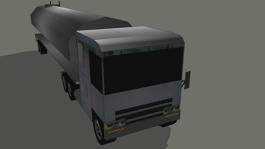 Low-Poly Gasoline truck
