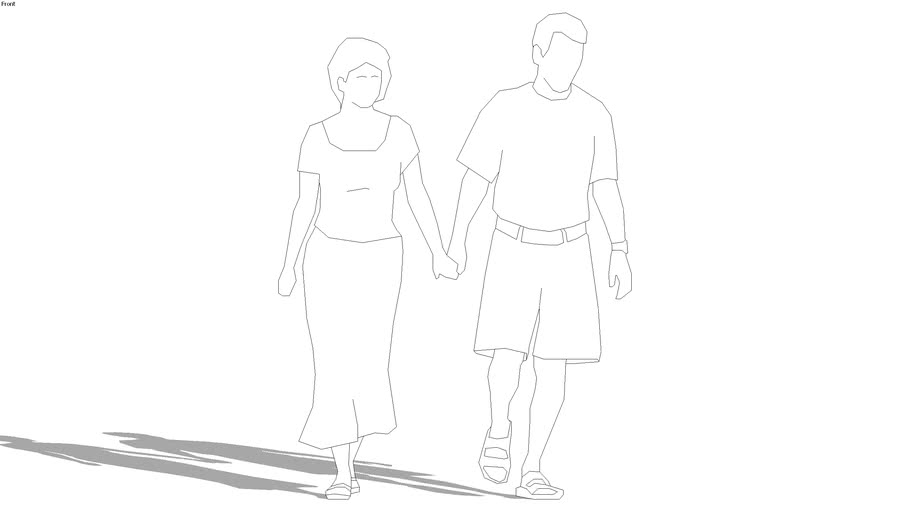 2d group, couple holding hands
