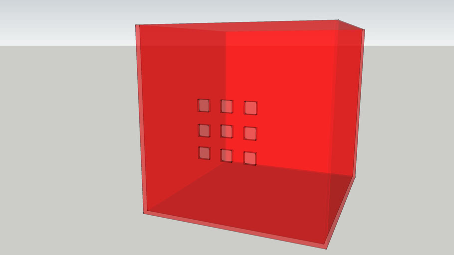 IKEA LEKMAN Box red