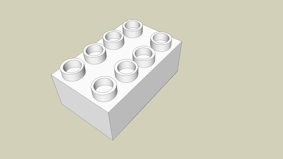 A White LEGO Brick