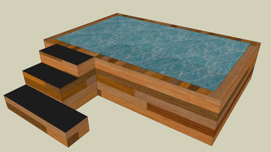 Бассейн из дерева по технологии EcoBlock25™