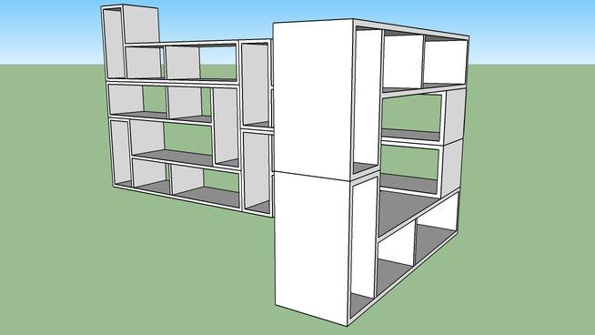 domino shelfing unit