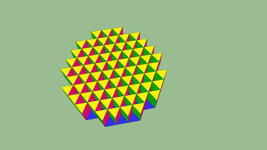 triangle colorié