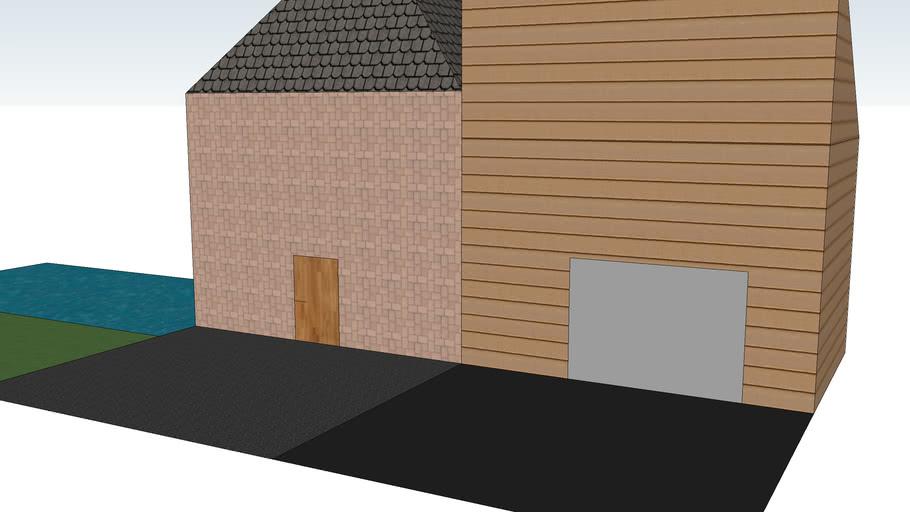 maison avec garage et pisine