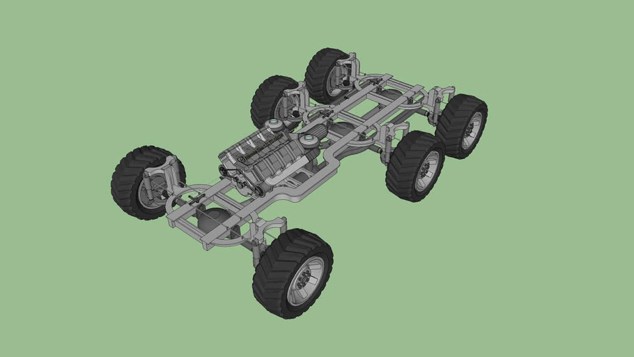 6x6 Off Road Vehicle Chassis