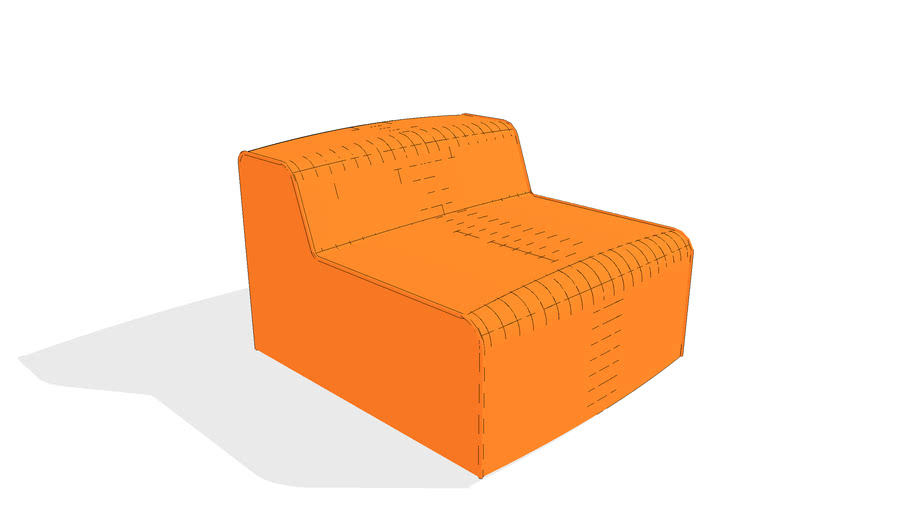 Nexus Armless Sofa by Gus* Modern