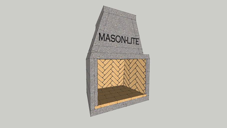 """Mason-Lite 33"""" Fireplace"""