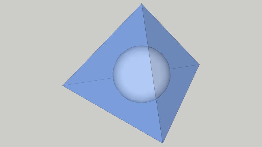 正四面体に内接する球