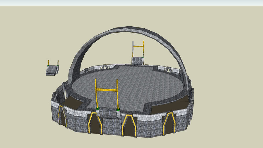 hangar/ alien court
