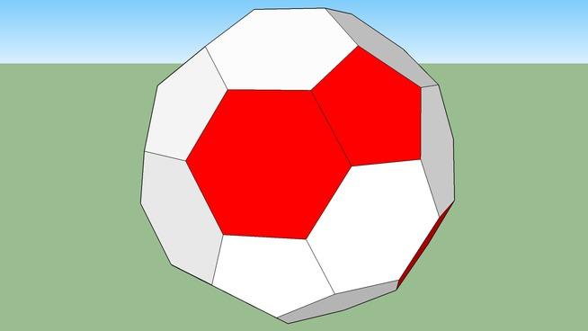 spraypainted soccer ball