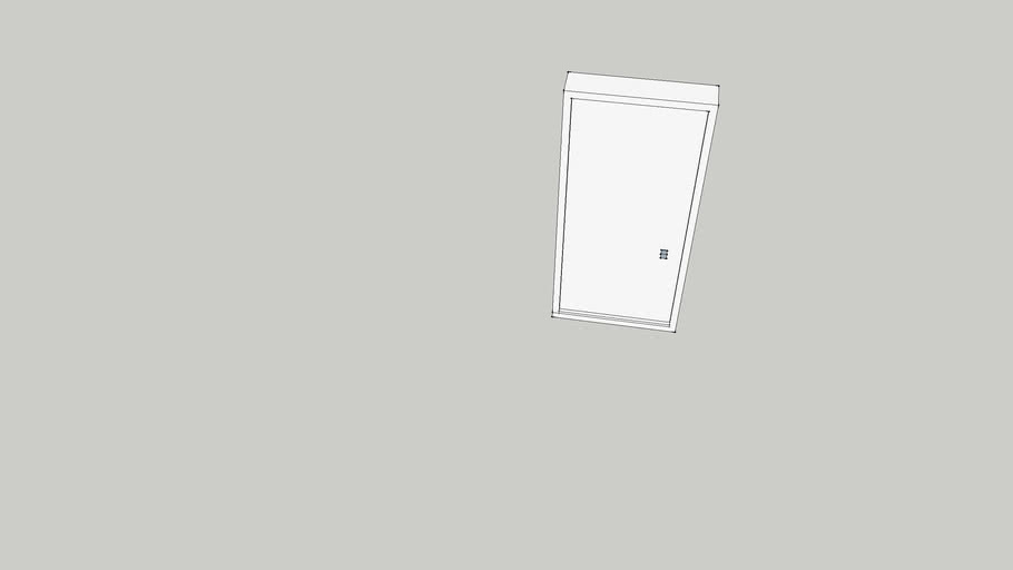 8 ft Contemporary/Modern Door w/ Frame