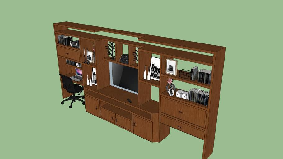 Mueble de TV con escritorio