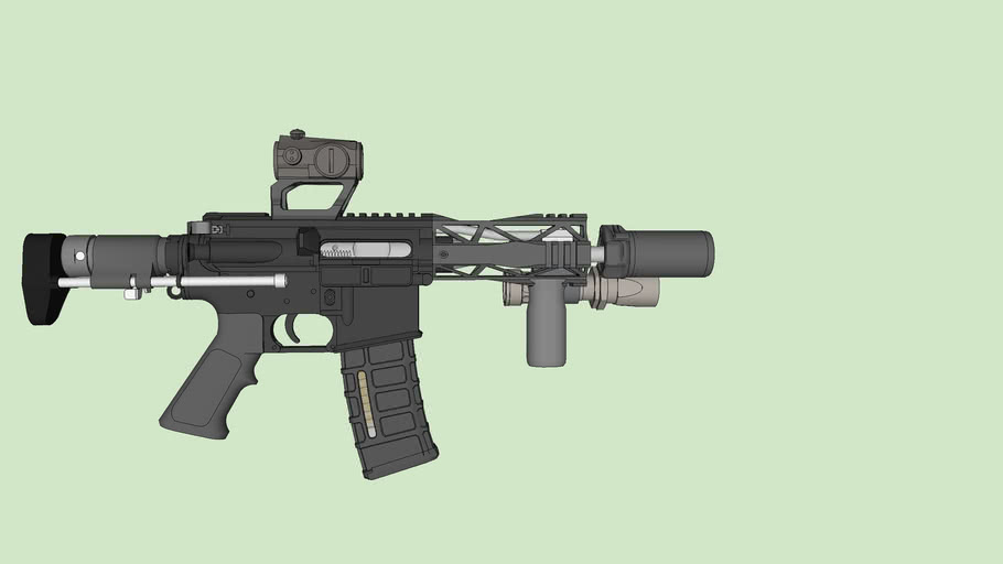 A short barreled AR with a PDW stock