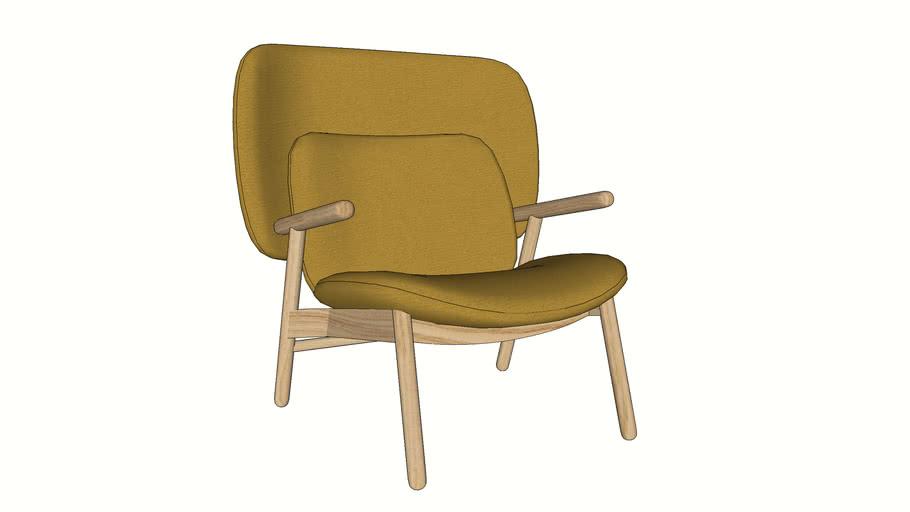 Cosh armchair with medium back