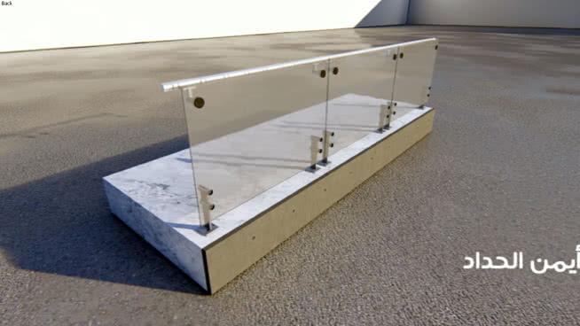 Glass railing | 3D Warehouse