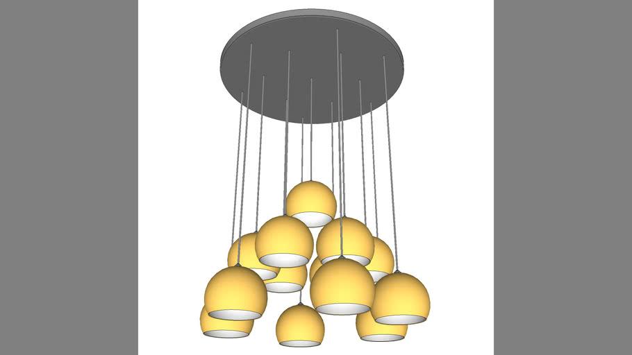 pendente bola dourada
