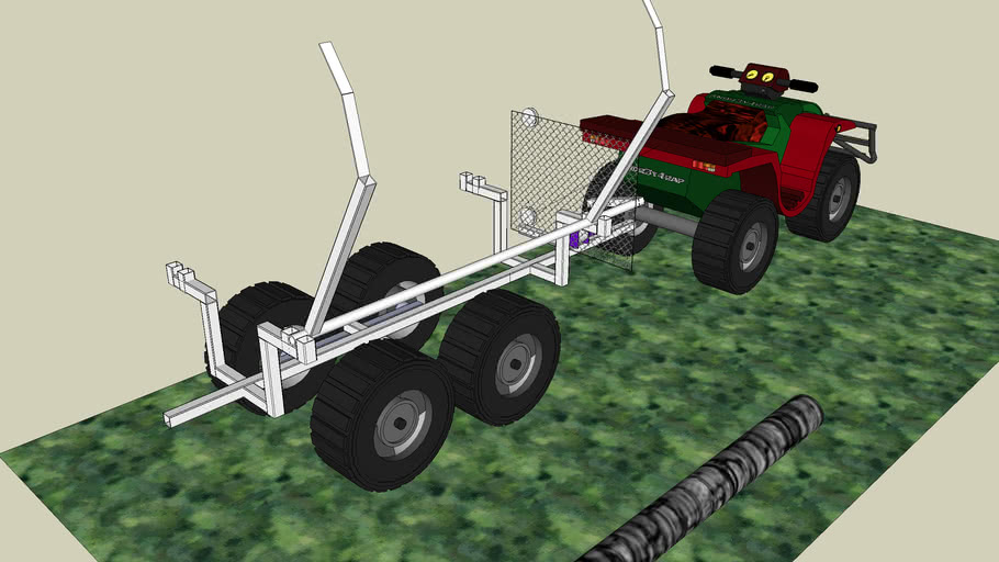 ATV logg lifter and carrier