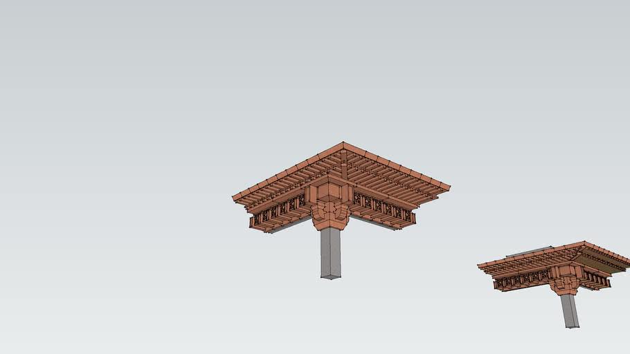 铜板顶部檐口
