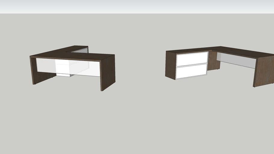 L Shaped Office Desks 3d Warehouse