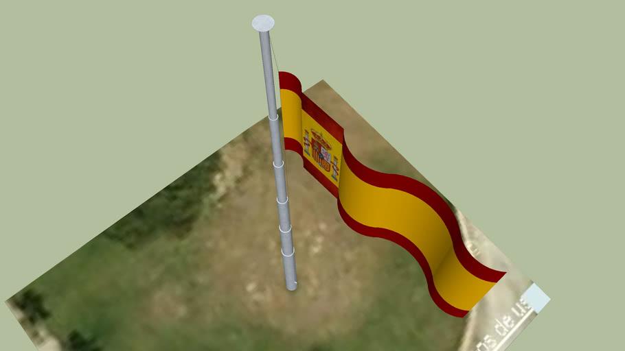 Bandera en Parque de la Paloma