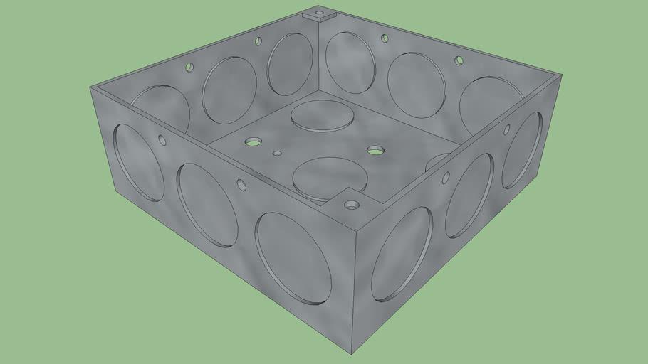 Square Electrical J-Box, 4x4,